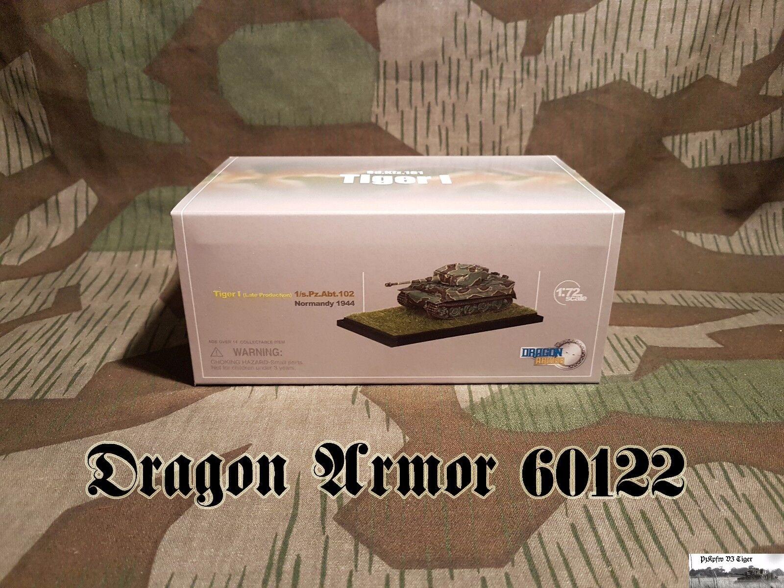 tienda en linea  122 Dragon Armor 60122 Tiger I late late late production w Zimmerit, 1. s.pz.abt.102 1 72  tienda en linea