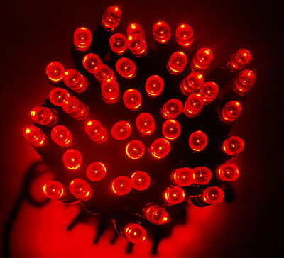 40 LED Fairy Christmas Haloween Wedding Party Lights 4m in RED Battery Operated