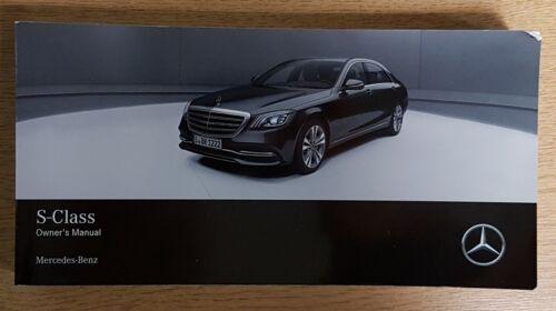Genuine Mercedes CLASSE S 222 OWNERS MANUAL manuel 2013-2018 Pack G-895