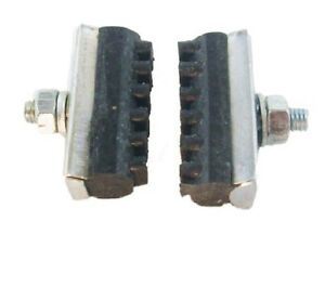 Old school BMX freestyle fixie bicycle soft compound brake pads WHITE