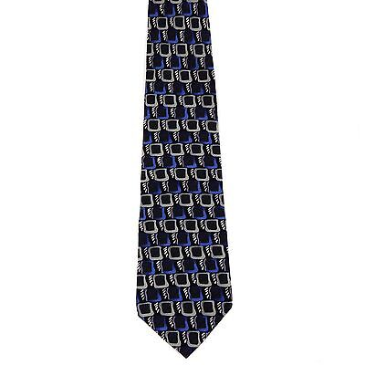 Jerry Garcia Designer Fashion Tie Abstract Purple Butterfly trap