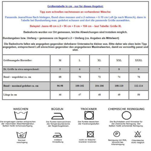 Herren BADESHORTS BERMUDA BADEHOSE KARIERT 915 Mokka Braun in M L XL XXL XXXL