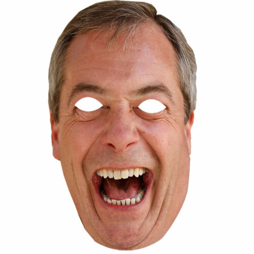 Nigel Farage UK politicien Célébrité Visage Masque 1 5 10 20 30 parti de gros