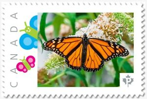 Details about MONARCH BUTTERFLY top Custom Postage stamp MNH Canada 2018  [p18-04sn09]