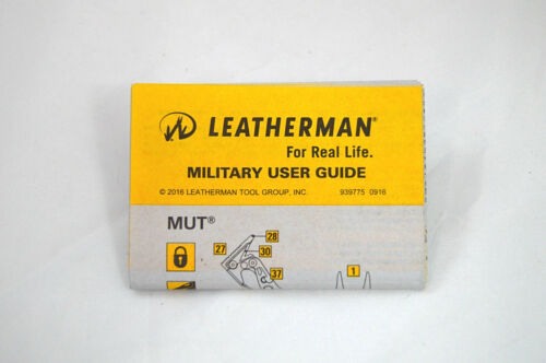 New Leatherman MUT Tactical Multitool 850122 Black with MOLLE Black Sheath