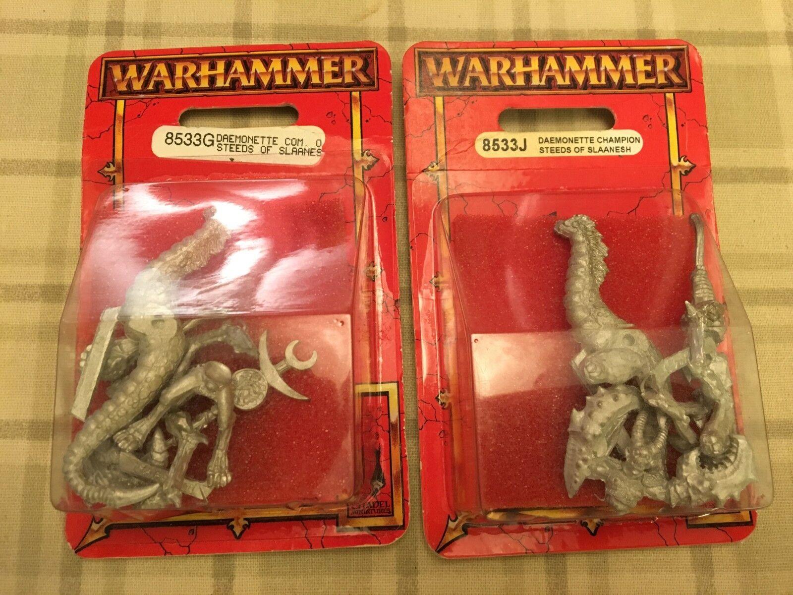 2 neue warhammer fantasy daemonette reiter von slaanesh blisterpackungen