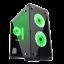 GameMax-Micro-ATX-Tower-H605-TA-Gaming-PC-Desktop-Computer-Case-W-RGB-LED-Fans miniature 1