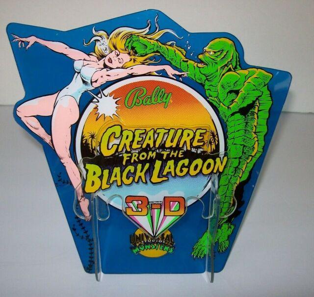 Creature From The Black Lagoon Pinball Machine 3-D Plastic NOS Display Original