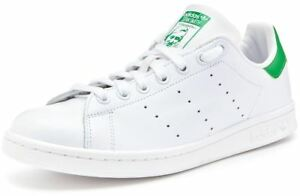 Mens-Adidas-Originals-Stan-Smith-Trainers-Casual-Shoes-White-Green-Size-7-8-9-10