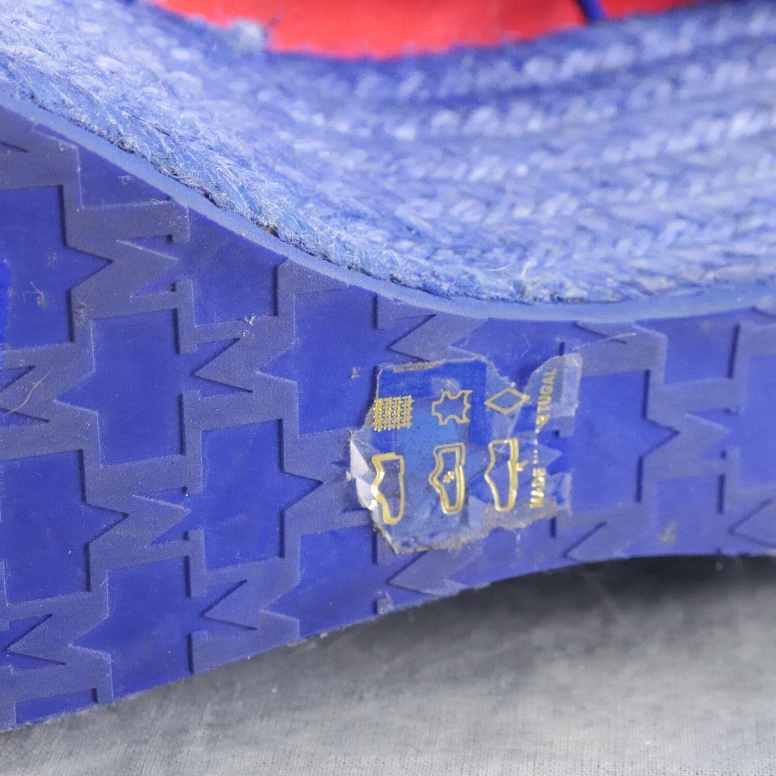NWOB MISSONI Distressed Distressed Distressed rot Canvas w Navy Jute Platform Turnschuhe 8 US 38 EU ANB 356927