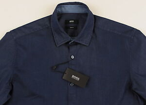 Shirts Clothing, Shoes, Accessories Hugo Boss Black Authentic Men Long Sleeve Slim Fit Shirt Size Xl Brand New
