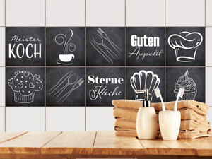 Fliesenaufkleber Küche 15x15 10x10 20x20cm Fliesenfolie Grau Guten ...