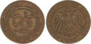 German East Africa 1 Pesa 1890 Almost Extremely Fine, Kupferpatina 30634