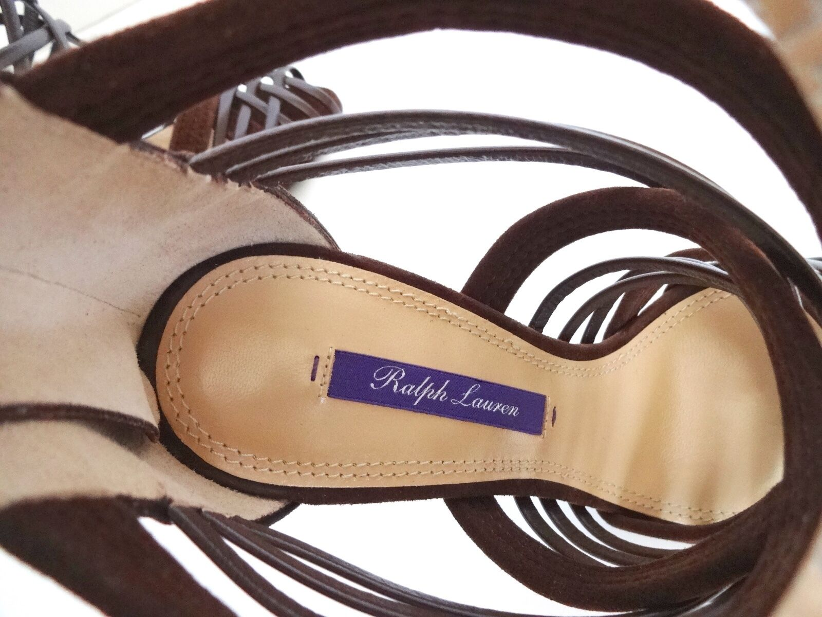 New Ralph Lauren Collection  Brown Suede Bliara Strappy Sandals Sandals Sandals shoes 35 B 3ebb81