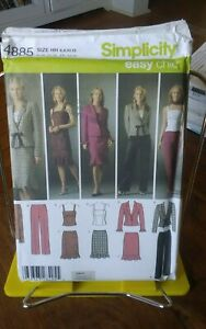 Easy-Chic-Simplicity-4885-misses-top-pants-jacket-skirt-shaped-hem-sz-6-12-NEW