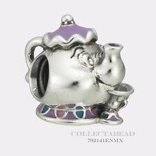 Authentic Pandora Silver Disney Mrs. Potts & Chip Bead 792141ENMX