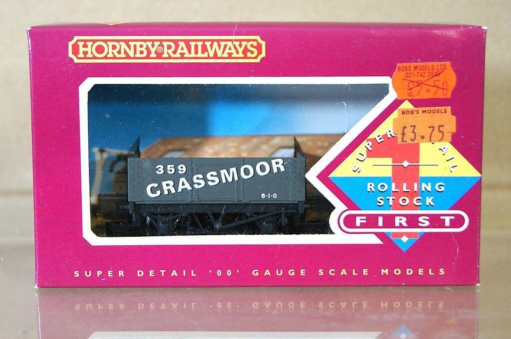 HORNBY R128 GRASSMOOR GRASSMOOR GRASSMOOR 6 PLANK MINERAL COAL WAGON 359 MINT BOXED nh  centro comercial de moda