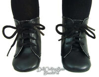 Black Frontier 1800 Lace-up Boots Shoes Made For 18 American Girl Doll Clothes