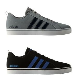 Das Bild wird geladen adidas-NEO-Pace-VS-Freizeitschuhe -Sneaker-grau-dunkelblau- 4f7fca4d30