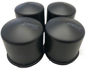 "4 CAP DEAL BULLET DOME EAGLE ALLOYS WHEEL RIM CENTER CAPS BLACK 3.25/"" DIA BORE"