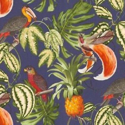 Erismann-Искать tropical perroquet Ananas Papier Peint-Bleu//Multi 6302-08