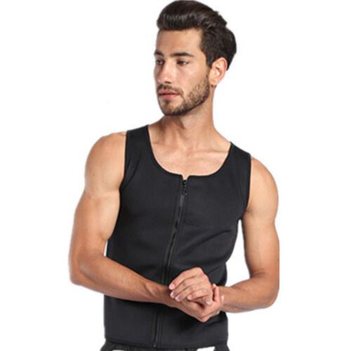 Herren Fitness mit Reißverschluss Shapewear Muskel Stringer Bodybuilding Weste