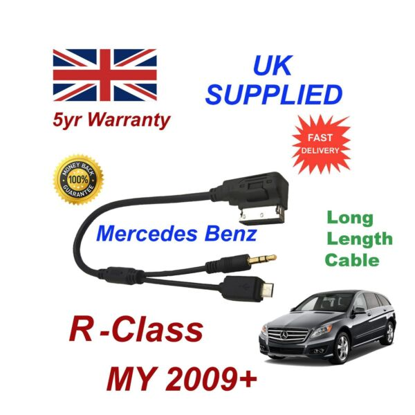 Mercedes Benz R Class For Samsung Galaxy HTC Sony Micro USB & AUX 3.5mm Cable L