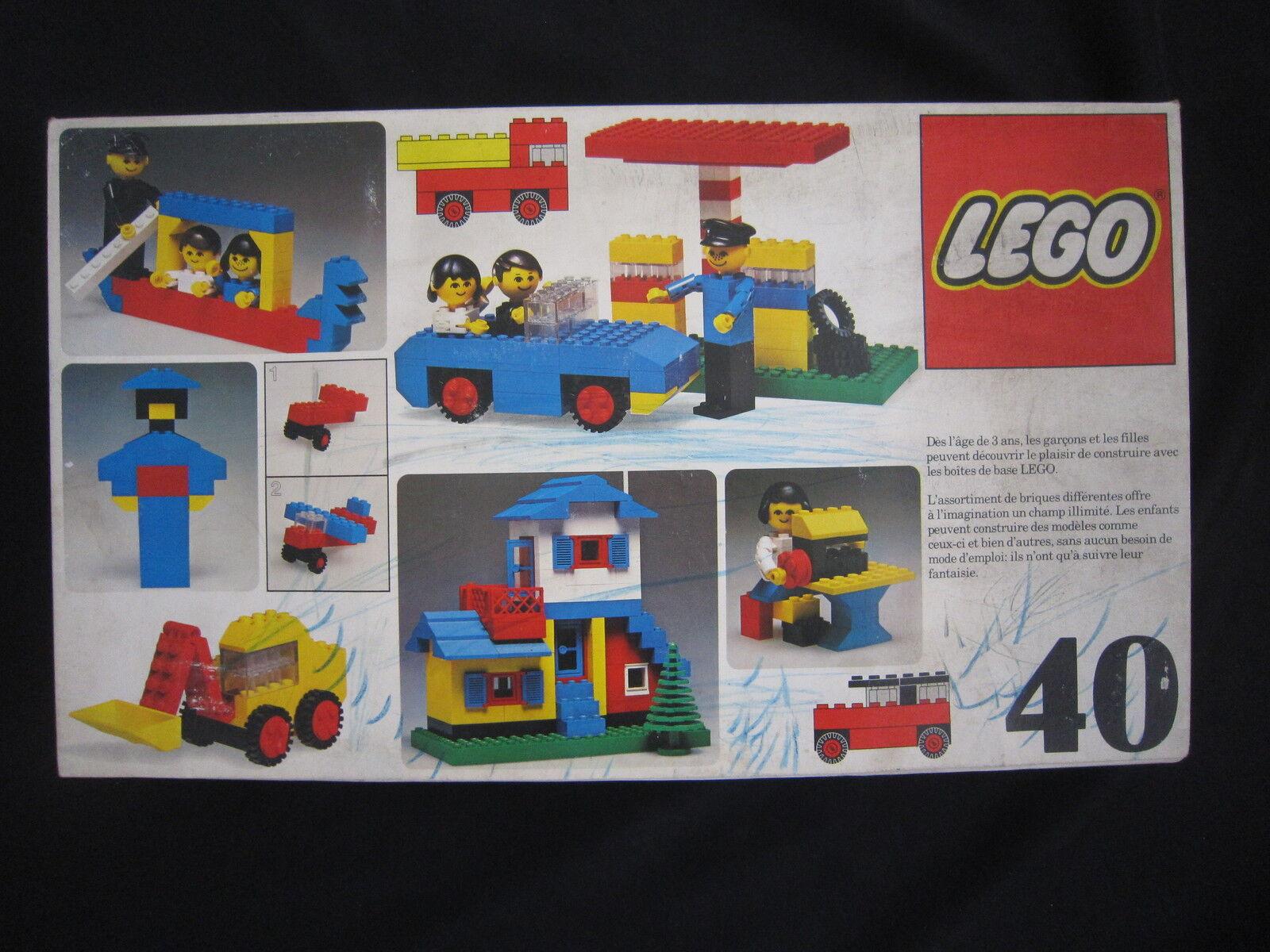 AC093 LEGO BOITE REF 40 1976 ETAT MOYEN