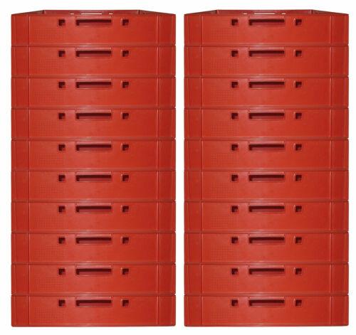 20 Fleischerkiste Fleischereikiste Eurokiste Metzgerkiste E1 Farbe Rot Gastlando
