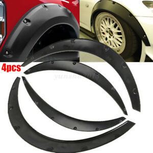 Will Fit F-150 Wheel Fender Flares wide Body Flexible ABS Plastic Universal