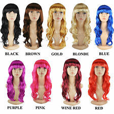 WOMEN?S SEXY LONG CURLY FANCY DRESS WIGS COSPLAY COSTUME LADIES FULL WIG PARTY