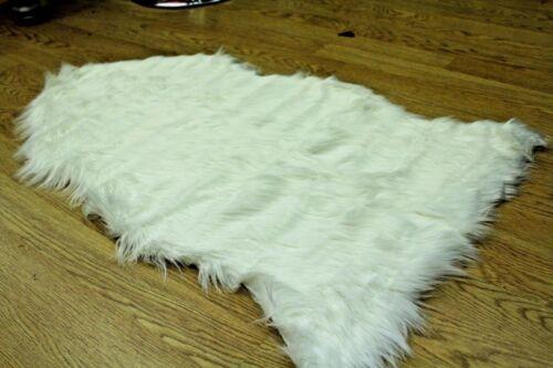 Sheepskin Rug Chair Cover Warm Hairy Soft Carpet Seat Pad Plain Skin Fur 60X100c