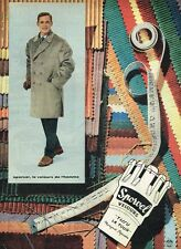 D- Publicité Advertising 1958 Les manteaux pour Homme Velours Sporvel