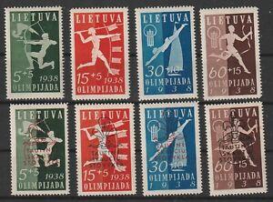 Lithuania / Litauen 1938 Olympics & Scouting Mi # 417/424 vf MNH