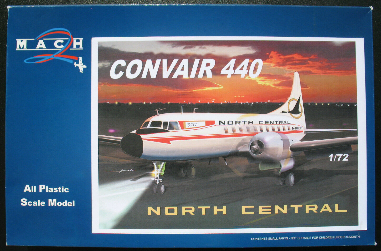 MACH 2 GP 055 - CONVAIR 440 - NORTH CENTRAL - 1 72 - Flugzeug Bausatz Model Kit