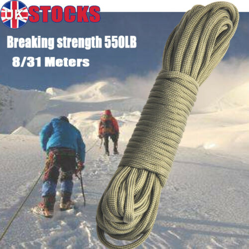 Military Paracord 4mm Tent Camping Guy Survival Type Rope Parachute Cord 100FT