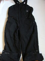 Men's Craftsman Duck Bib Overall Size Xl Insulated Black Cotton Work Pants