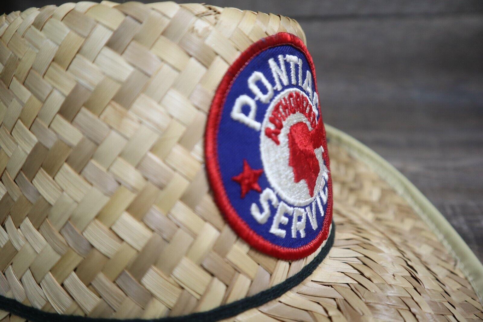 Vintage Pontiac Service Patch Straw Hat Cap Rare … - image 8