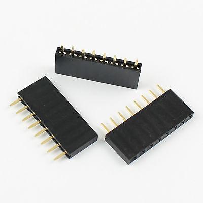 50Pcs 2.54mm Pitch 40 Pin Female Single Row Straight Round Pin Header Strip
