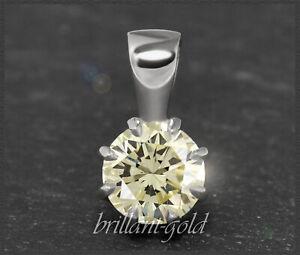 Diamant-Brillant-Anhaenger-mit-0-80ct-585-Gold-14-Karat-Weissgold-Damen-Neu