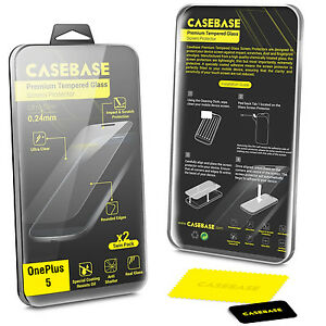 save off 7b50f 817e3 Details about 2 Pack - CaseBase Premium Tempered Glass Screen Protector for  Oneplus 5 - BLACK