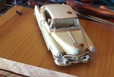 autoart,1953 Cadillac,repainted,cream yellow/white top,rusted barn find,O scale