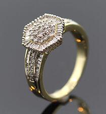 EDLER RING MIT 98 BAGUETTE-DIAMANTEN + 31 BRILLANTEN AUS 585/-GOLD WERT 1898,- €