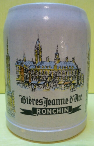 RONCHIN 0,50 L CHOPE A BIERE JEANNE D/'ARC EN GRE CG87 *