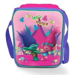 Trolls-Poppy-Branch-Let-039-s-Dance-3D-Lenticular-Insulated-Lunch-School-Bag