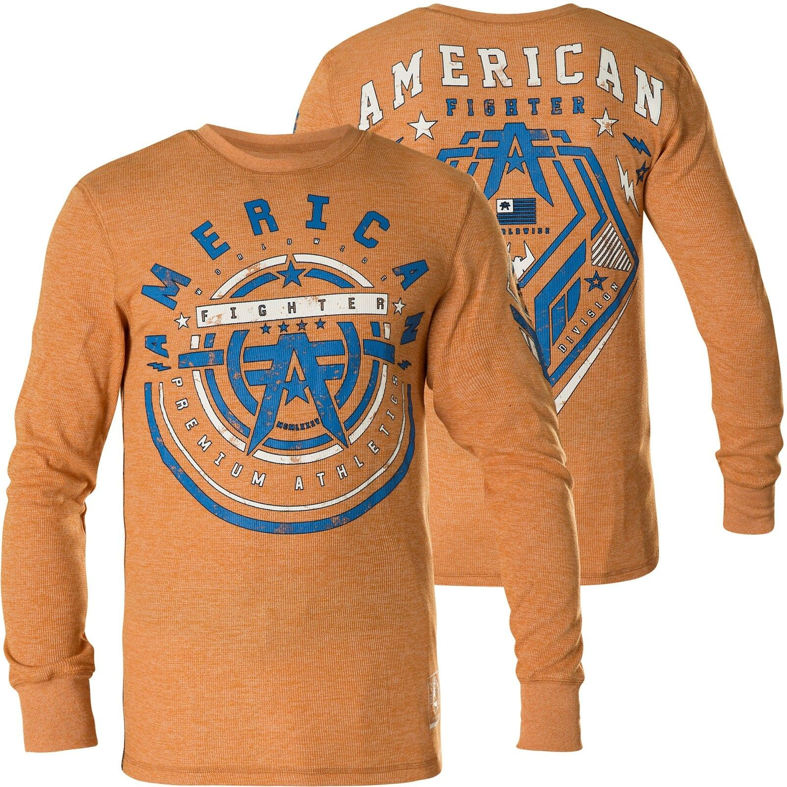 AMERICAN FIGHTER Affliction Pullover Galloway Orange Sweatshirts