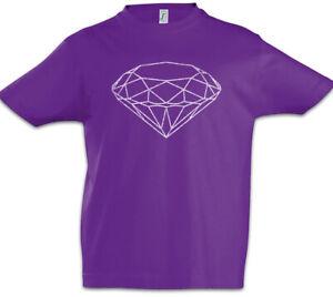 Diamond I Kinder Jungen T-shirt Diamant Diamanten Juwel Juwelen Kristall HüBsch Und Bunt