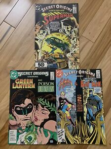 DC-SECRET-ORIGINS-comics-lot-of-3-Superman-Halo-Batman-Green-Lantern-Poison-Ivy