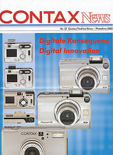 Prospekt Contax News 51 2002 D GB Photokina Kameraprospekt 2001 brochure broschy