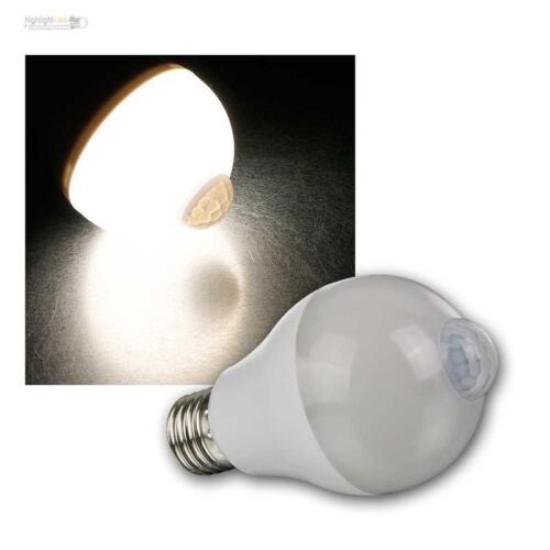 E27 DEL ampoules poire avec bewgungsmelder 6 W 600 lm daylight, PIR Capteur 230 V